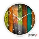 "12"" Colorful Board Design Metal Wall Clock"