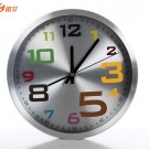 "12"" Colorful Numeral Design Alloy Wall Clock"