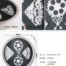 """16"""" Stylish Stainless Steel Wall Clock with Gearwheels"""