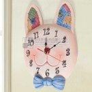 Rabbit Face Polyresin Wall Clock