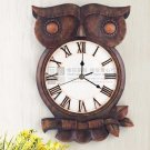 Owl Design Polyresin Wall Clock