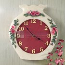 Floral Vase Polyresin Wall Clock