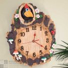 Pecker Design Polyresin Wall Clock