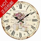 Country Floral Wall Clock  1037
