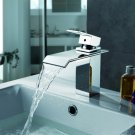 NEW Contemporary rainfall basin Faucet chrome finish MS03