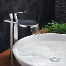 NEW Contemporary rainfall basin Faucet chrome finish MS10H
