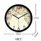 """8""""Country Theme Metal Wall Clock 276"""
