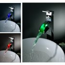 NEW Contemporary wall mount rainfall LED Shower Faucet  chrome finish LS05H