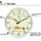 Pastoral Mute ABS Wall Clock (Color Randomly Sent)