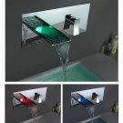 Wholesale and Retail hot sale Color Changing LED Waterfall Bathroom Sink Faucet LSW01