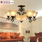 Iron Chandelier with 8 Lights in Antique Style-3