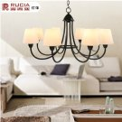 Iron Chandelier with 8 Lights in Antique Style-4