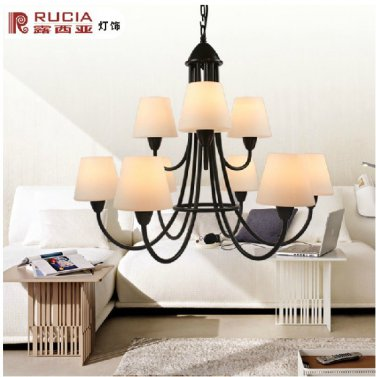 Iron Chandelier with 9 Lights in antique Style-6