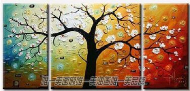 Hand-painted Abstract Oil Painting with Stretched Frame F7102