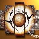 Hand-painted Abstract Oil Painting with Stretched Frame W5003A