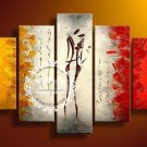 Hand-painted Abstract Oil Painting with Stretched Frame W5103