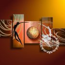 Hand-painted Abstract Oil Painting with Stretched Frame W5007B