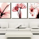 Modern Scenic Wall Clock in Canvas 3pcs H3301