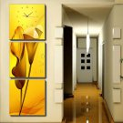 Modern Scenic Wall Clock in Canvas 3pcs S3001