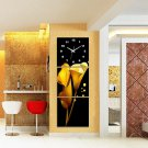 Modern Scenic Wall Clock in Canvas 3pcs S3004