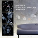 Modern Scenic Wall Clock in Canvas 3pcs S3009