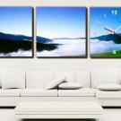 Modern Style Scenic Canvas Wall Clock 3pcs H3510