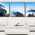 Modern Style Scenic Canvas Wall Clock 3pcs H3514