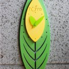 Green Leaf Style Wall Clock