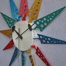 Moderan Triangle Aluminum Wall Clock - C