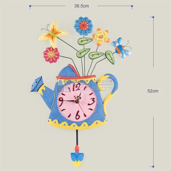 Modern Style Spring Kettle Wall Clock