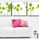 Modern Style Scenic Canvas Wall Clock 3pcs - 007M