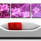 """12"""" Modern Style Floral Wall Clock in Canvas 3pcs-2"""