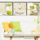 Modern Scenic Canvas Wall Clock 3pcs - 105M2
