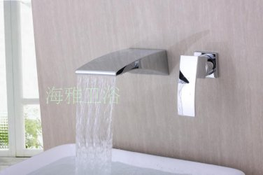 NEW**wall mount waterfall basin Faucet chrome finish HG1229
