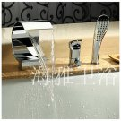 NEW*Contemporary Chrome Finish Waterfall Stainless Steel tub Faucet H67362