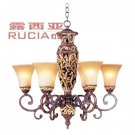 European-Style Classic 6 Light Chandelier CH022-6-15