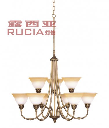 European Elegent Chandelier Light with 9 Lights Up CH056-9-43