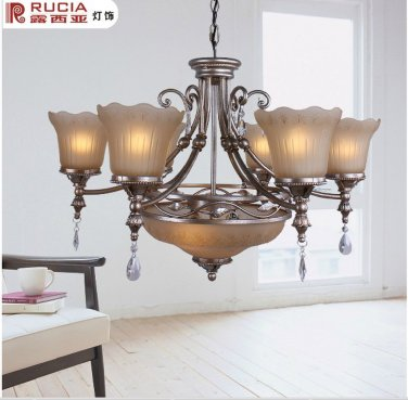 European-Style Classic 8 Light Chandelier CH150-6+2-64