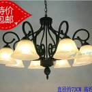 European-Style 8 Light Chandelier with white  glass shade 6072/8P