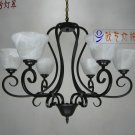 European-Style 6 Light Chandelier with white  shade  6088/6P