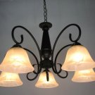 European-Style 5 Light Chandelier with white  shade 60895P