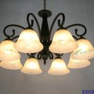 European-Style 8 Light Chandelier with white  shade 60778P