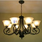 European-Style 8 Light Chandelier with white shade 1116-8P