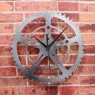 "12""H Gear Style Acrylic Wall Clock - SILVER"
