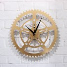 "12""H Gear Style Acrylic Wall Clock - GOLDEN"