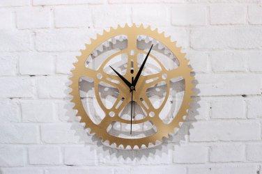 "12""H Gear Style Acrylic Wall Clock - GOLDEN"