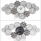 Floral Style Metal Wall Clock - ZE1002