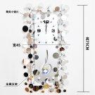 Mirror Tall Metal Wall Clock