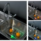 FREE SHIP NEW Contemporary LED Pull out Down Spray Swival Kitchen basin Faucet chrome finish LSK03