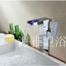 Color Changing LED Waterfall Bathroom Sink Faucet (Tall) HL1003